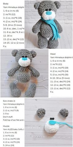 Newest Images Cute crochet bear Strategies Amigurumi Crochet Plush Bear Free Pattern – Amigurumi Crochet Crochet Simple, Cute Crochet, Crochet Dolls, Knitted Dolls, Crochet Bear Patterns, Knitting Patterns, Free Knitting, Crochet Animals, Crochet Teddy Bears