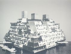 "Buckminster Fuller ""Undersea Island-Sumbarisle, United States Patent Office no. 3,080,583,""from the portfolio ""Inventions: Twelve Around One,""1981"