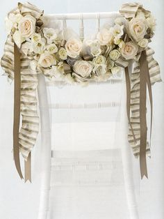 chair garland - sweetheart table?