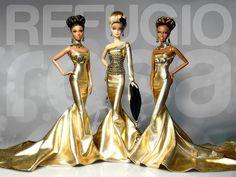 Alma, Gold & Naiad, Barbie Ooak doll by David Bocci for Refugio Rosa.
