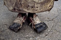 Steve McCurry, feet, inspirational shoes, so sad, a tear in my eye for those people, who have to live like this