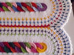 Livre Crochet Padrão: Cadeias cobertor, por Barbara CM, em Ravelry.