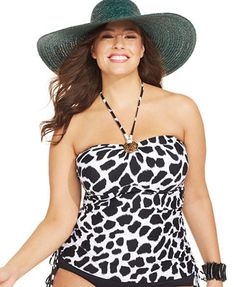 b09aa2b322faa MICHAEL Michael Kors Plus Size Animal-Print Halter Tankini Top & Reviews -  Swimwear - Plus Sizes - Macy's