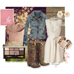 Country Sweet by heismygod on Polyvore featuring MARC BY MARC JACOBS, Abercrombie & Fitch, Givenchy, Matthew Williamson, Miso, Chanel, Bobbi Brown Cosmetics, Shabby Chic, Vellum and country