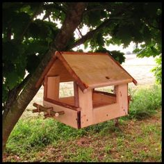 * Birdfeeder. Try ply and use the belt sander to make the back of the sticks flat and easier to attach. X