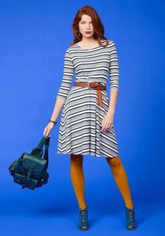 #ModCloth - #ModCloth Getting Down to the Knitty Pretty Striped Dress in L - AdoreWe.com