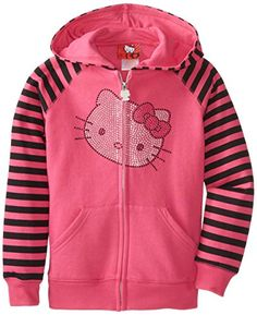 Hello Kitty Big Girls' Hoodie with St...