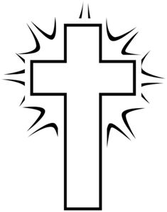 Free Cross Clipart Black And White | Coloring | Cross ...