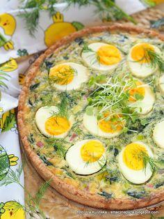 wiosenna-tarta-jajeczno-szpinakowa Polish Recipes, Polish Food, Best Dishes, Avocado Egg, Bon Appetit, Italian Recipes, Quiche, Bakery, Recipies