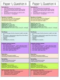 AQA English Language Paper 1 Section A Revision - Detailed Focus on Question 4 A series of six revision 'masterclass' lessons designed to improve students'. Aqa Gcse English Language, English Gcse Revision, Gcse English Literature, English Writing Skills, Teaching English, Life Hacks For School, School Study Tips, Revision Notes, Study Notes