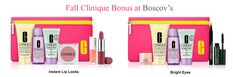 It's bonus time at Boscov's - choose your 7-piece Clinique gift with any $31 purchase. Receive more with any $55 or $75 purchases.