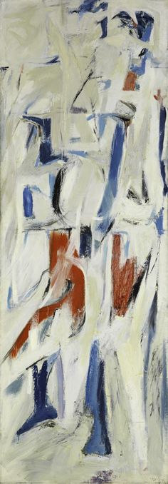 """Jack Tworkov, """"Adagio,"""" 1953, Oil on canvas, 80 × 28 in. The Metropolitan Museum of Art, Anonymous Gift, 1955."""