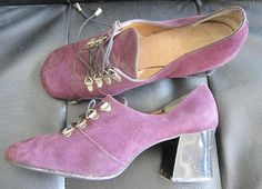 Vintage 60s 70s Dolcis shoes purple suede with by vintageartizania