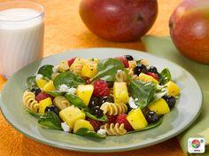 Mango Berry Rotini Salad #fruit #veggies #grains #MyPlate #WhatsCooking