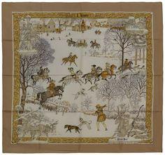 / vintage hermès silk scarf / l'hiver philippe ledoux / winter /