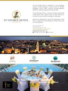 follow us on Pinterest @ St George Hotel Jerusalem and on G+ @ St George Hotel Jerusalem