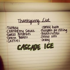 Add zero-calorie, flavorful Cascade Ice to your Thanksgiving menu - your guests will thank you!