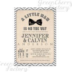 Vintage Baby Boy Shower Invitation  CoEd  by GreenCherryFactory, $18.00
