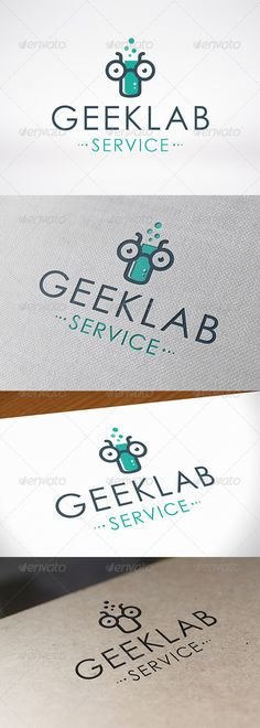Geek Lab Logo Template by BossTwinsMusic - Three color version: color, greyscale and single color.- The logo is 100 resizable.- You can change text and colors very easy u Logo Design Template, Logo Templates, Lab Logo, Fashion Logo Design, Great Logos, Geometric Logo, Information Graphics, Symbol Logo, Logo Color