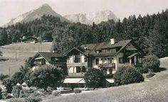 Das Hotel Geiger auf einer Postkarte von 1936