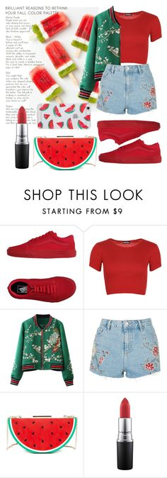 """untitled #198"" by iamjustamayfly ❤ liked on Polyvore featuring Vans, WearAll, Topshop, Sonix, Summer, Spring, outfit and watermelon"