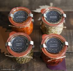This is the time of year for gatherings and dinners with friends and family and it is the time of harvest. Food gifts, either homemade or purchased, are perfect for the hostess gift, a fall birthday or as an added treat for the Thanksgiving feast. To help you personalize and ...