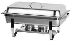 Full Size Chafing Dish with Stainless Steel Pan and Lift-Up Lid