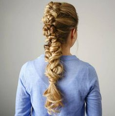 knotted braid mohawk for long hair