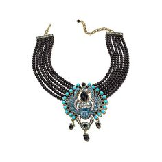 "Heidi Daus ""Far Cry From Shy"" 6-Strand Drop Necklace"