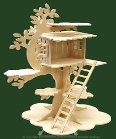 Ratags Online Shop - Baumhaus zum Basteln, groß, für Miniaturen