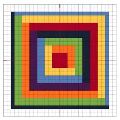 Embroidery Cross Stitches Cross Stitch: Rainbow Block 1 - The Crafty Mummy - The first of a new series: Cross Stitch Rainbow Blocks - with free chart so you can stitch too! Counted Cross Stitch Patterns, Cross Stitch Charts, Cross Stitch Designs, Cross Stitch Embroidery, Embroidery Patterns, Cross Stitch Geometric, Simple Cross Stitch, Crochet Heart Blanket, Blanket Yarn