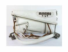 b3e632942648 Rebecca Minkoff Harper White Leather Crossbody Shoulder Bag $130. Available  through Shop-hers.