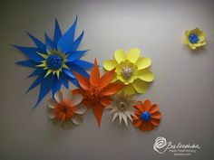 Paper Flower Vinyl Flower 3d Collage Bright Primary and Neon Colors Durable Vibrant Outdoor Events