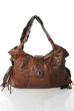 bfbcd740708e Junior Drake Brown Leather Shoulder Handbag