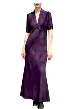 Sable Currant Crepe Maxi Dress   Nancy Mac