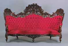 Rosewood Victorian Sofa by John Henry Belter