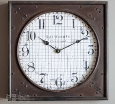 Restoration Hardware Inspired Clock Knock Off Bliss-Ranch.com