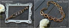 Vintage Rhinestone, brass and Silver, along with Pearls all layered together in these Vintage Inspired One of a Kind Pieces. http://www.simplymeart.etsy.com