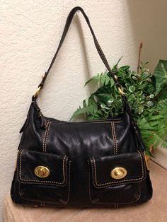 The SAK Black Pebble Leather Large Hobo Shoulder Handbag Bag Purse Tassels #TheSak #ShoulderBag