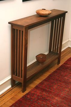 What Is a Hallway Table? A hallway table is a small, slim table that sometimes has two tiers, and it Foyer Furniture, Craftsman Furniture, Furniture Plans, Small Furniture, Walnut Furniture, Furniture Buyers, Furniture Online, Plywood Furniture, Office Furniture