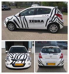 Rijschool Zebra ontwerp en montage autobelettering