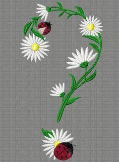 point d'interrogation 164x85  pour les abonnées Machine Embroidery, Embroidery Designs, Applique, Blog, Vintage, Motifs, Point, Decor, Portraits