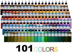 color ink tattoos Tattoo Ink Colors, Tattoo Ink Sets, Ink Tattoos, Learn To Tattoo, Create A Tattoo, Inked Shop, Tattoo Parlors, Tattoo Supplies, Great Tattoos