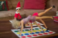 Jackie the House Elf Loves a good game of Twister.  #ElfOnTheShelf