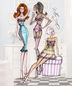 Hayden Williams Fashion Illustrations | 'The Powder Room' by Hayden Williams
