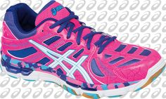 bd17ae6e718 ASICS Women s Gel-Volleycross Revolution in Knockout Pink White Electric  Blue