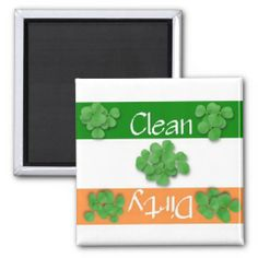 Clean or Dirty Dishwasher St. Patrick's Day Flag Magnet ...... http://www.zazzle.com/clean_or_dirty_st_patricks_day_flag_magnet-147382317151190023?rf=238631258595245556