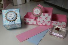 Boxen zur Geburt für Jungen und Mädchen - Ein praktisches Geschenk für den Familienzuwachs, gebastelt mit Produkten, Stempeln und Stanzen von Stampin' Up!