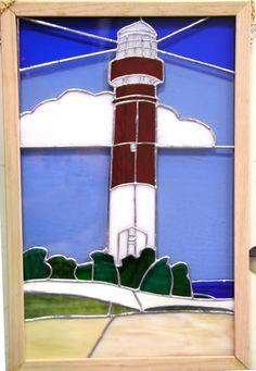 Barnegat Light Orignal Stained Glass Window by DianasStainedGlass, $400.00