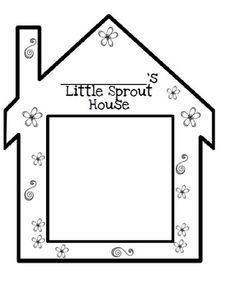 Little Sprout House by Classy Kinders Portfolio Kindergarten, Kindergarten Science, Preschool Curriculum, Science Activities, Classroom Activities, First Year Teachers, Teacher Pay Teachers, Daycare Themes, Science For Toddlers